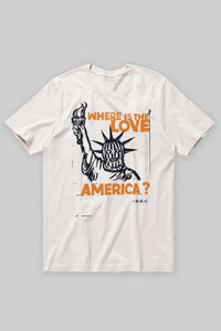 "Pre-Order BKc ""LOVE AMERICA2"" White/orange"