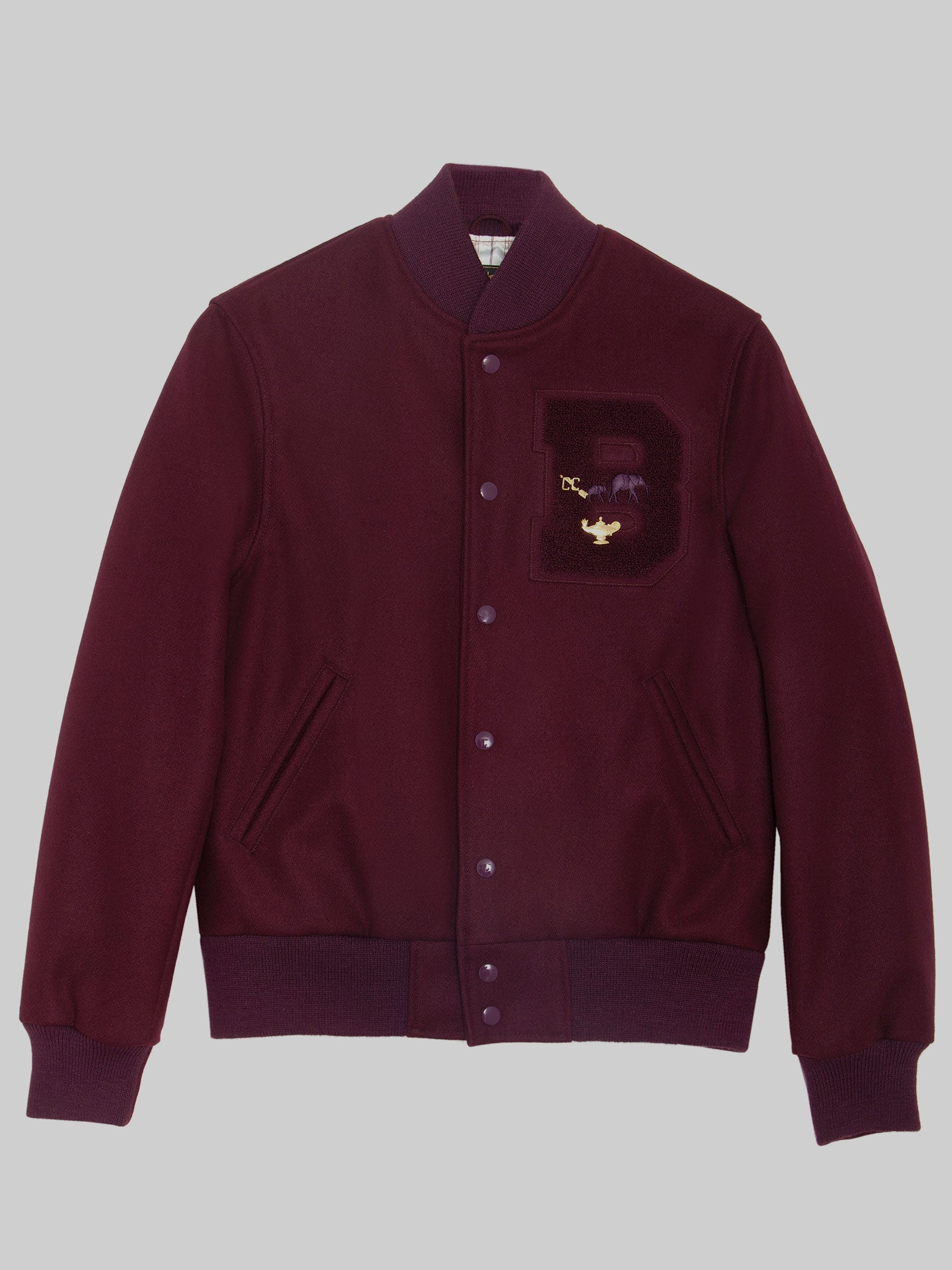 "FEMALE ""Ruby Wine"" All Wool Varsity"