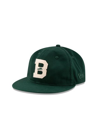 BKc x New Era Felt 'B' Varsity Cotton Cap Forest Green