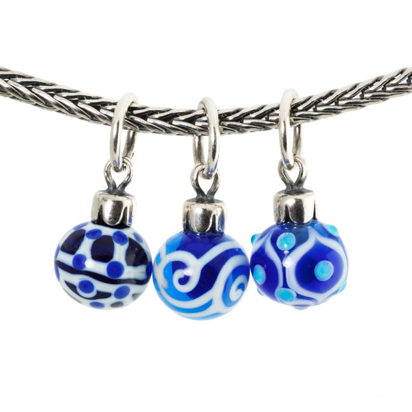 Blue Christmas Ornaments - Bead/Link