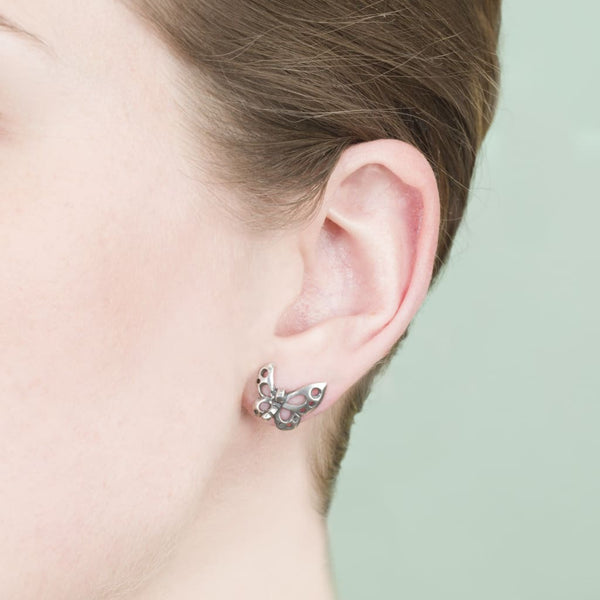 Dancing Butterfly Studs - Earring