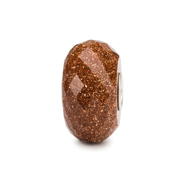Faceted Goldstone - Bead/Link