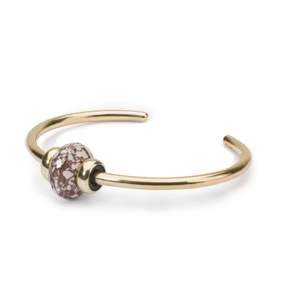 Gold Bangle with Angel Wing Alunite - BOM Bangle
