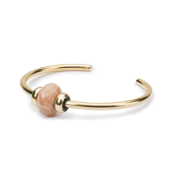 Gold Bangle with Feldspar Moonstone - BOM Bangle