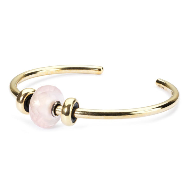 Gold Bangle with Rose Quartz - BOM Bangle