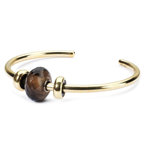 Gold Bangle with Smoky Quartz - BOM Bangle