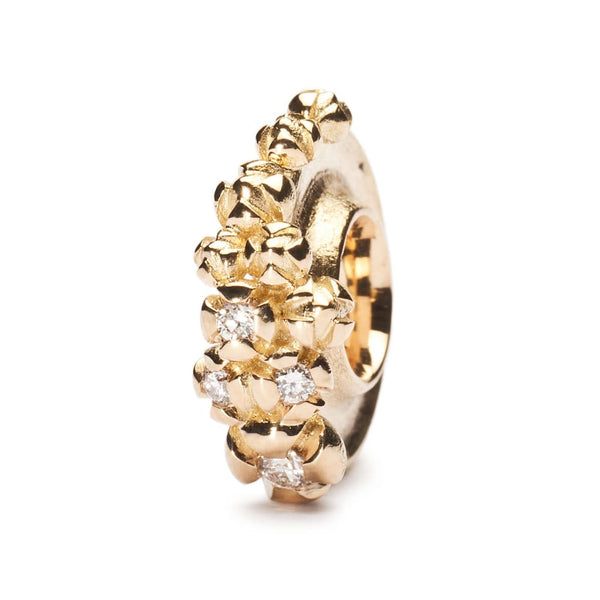 Gold Bougainvillea with Diamonds - Bead/Link