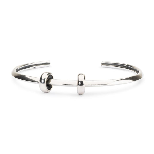 Heart Bangle with 2 x Silver Spacers - BOM Bangle