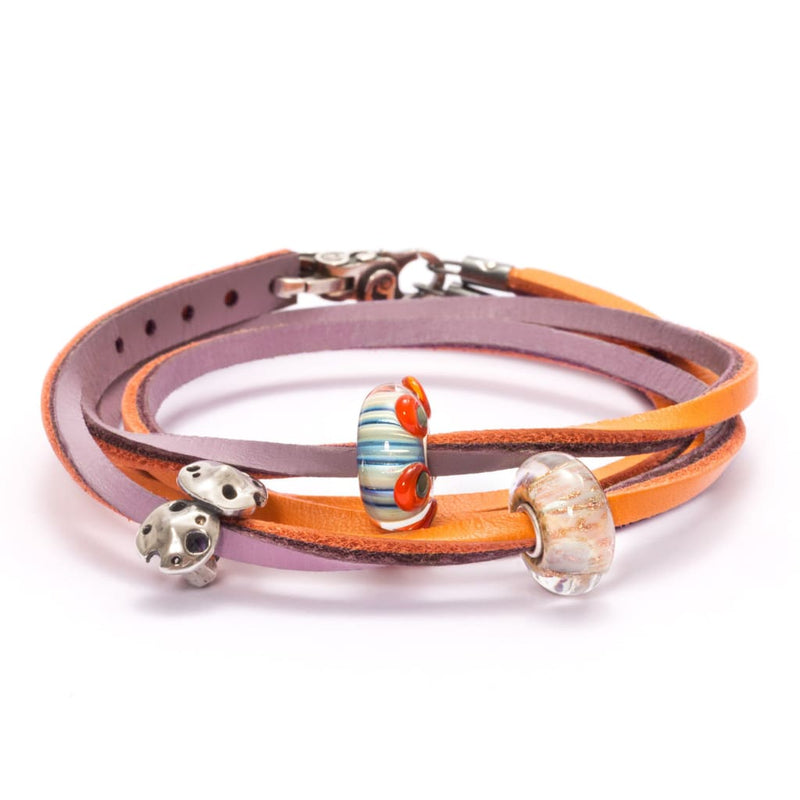 Leather Bracelet Pumpkin/Grape - Bracelet
