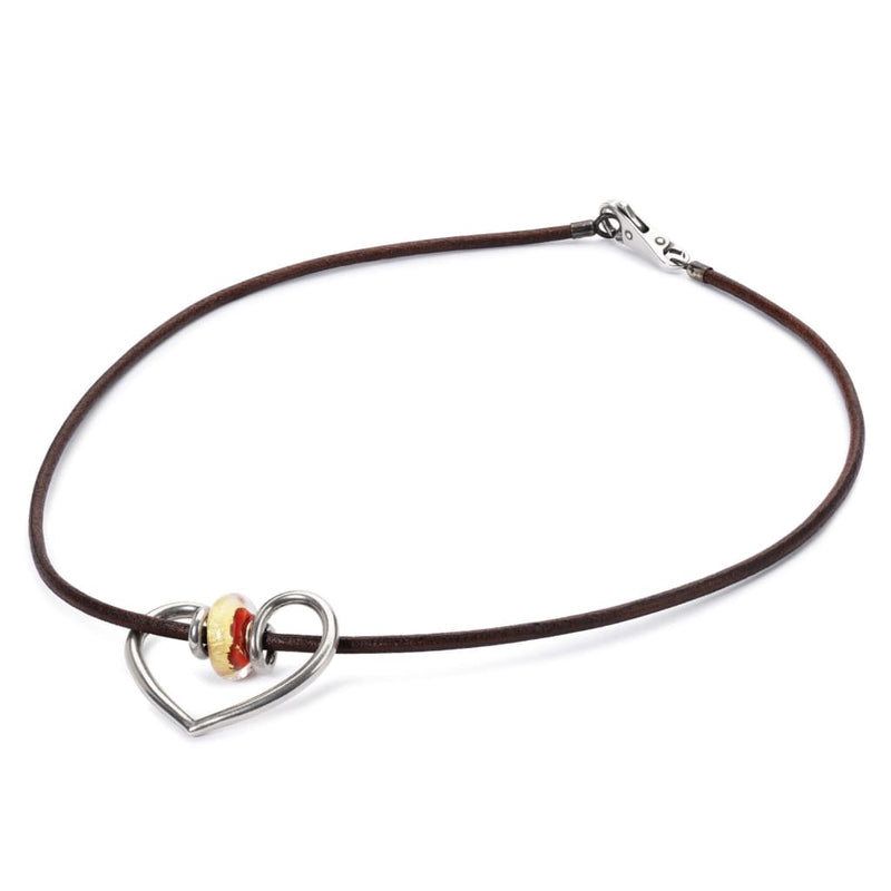 Leather Necklace Brown - Necklace