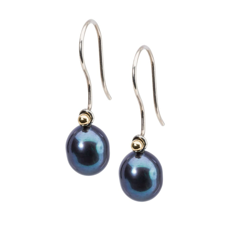 Peacock Pearl Oval Drops - Earring