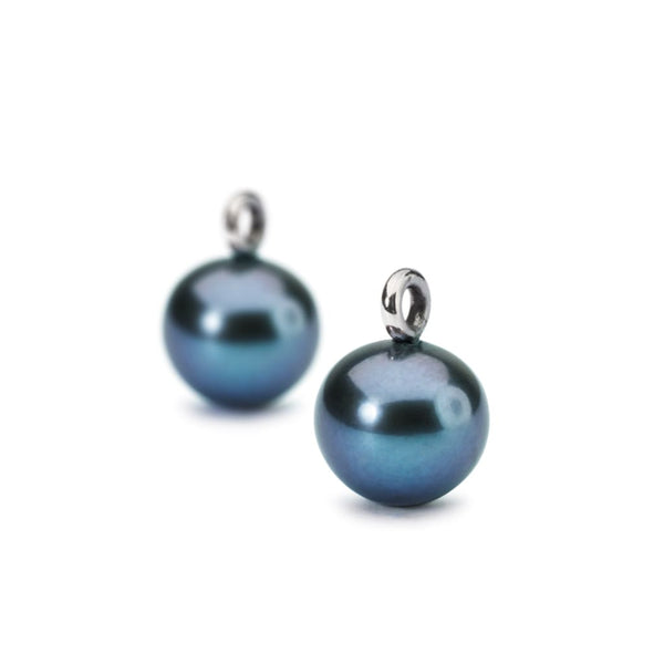 Peacock Pearl Round Drops - Earring