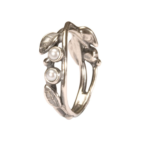 Pearls and Leaves - Ring