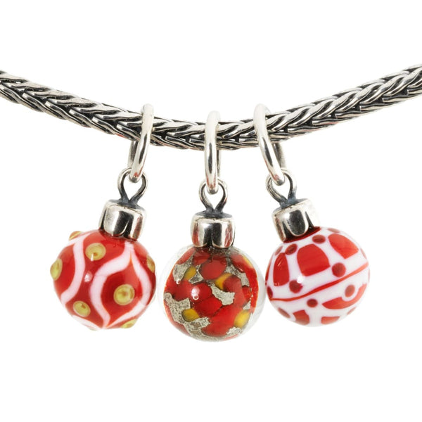 Red Christmas Ornaments Single - Bead/Link
