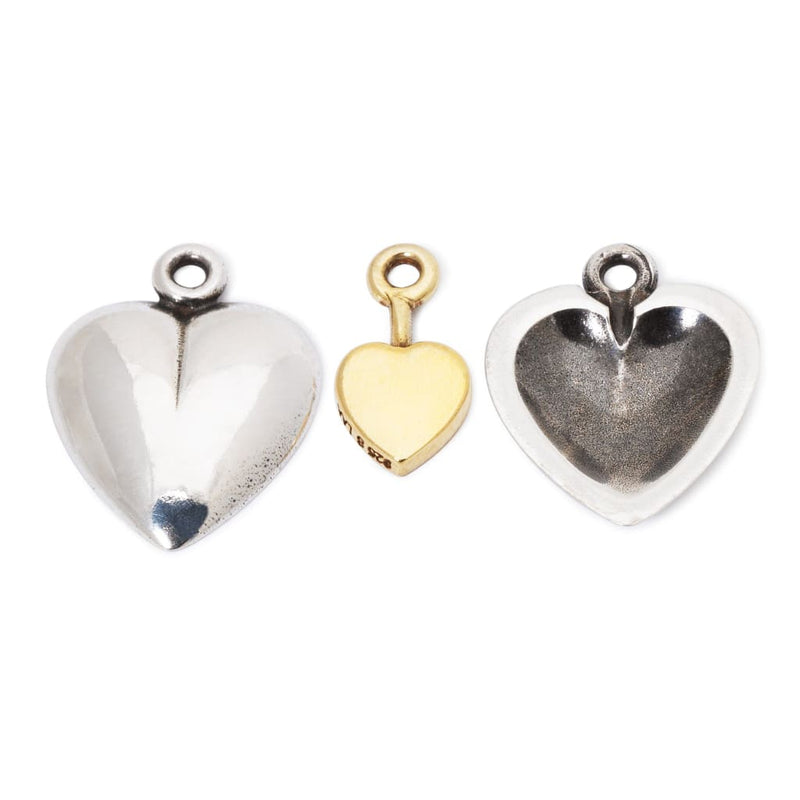 Secret Heart Earrings with Silver Earring Hooks - BOM