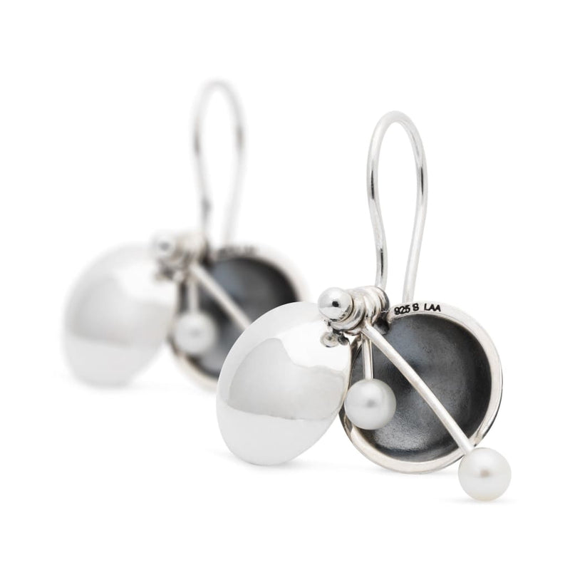 Secret Orb Earrings with Silver Earring Hooks - BOM Earring