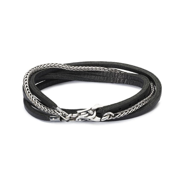 Silver & Leather Bracelet - BOM Bracelet
