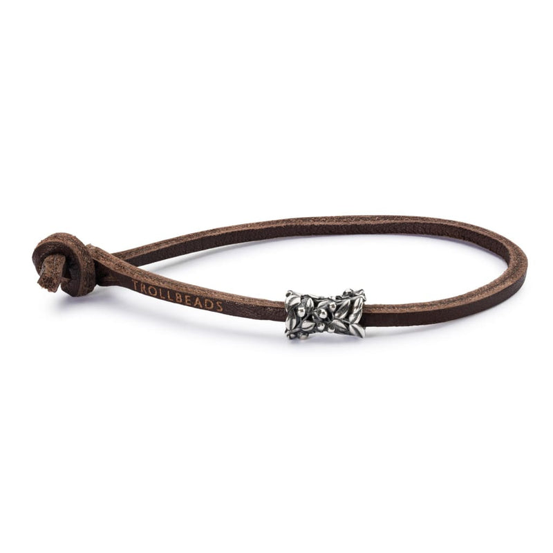 Single Leather Bracelet Brown - Bracelet