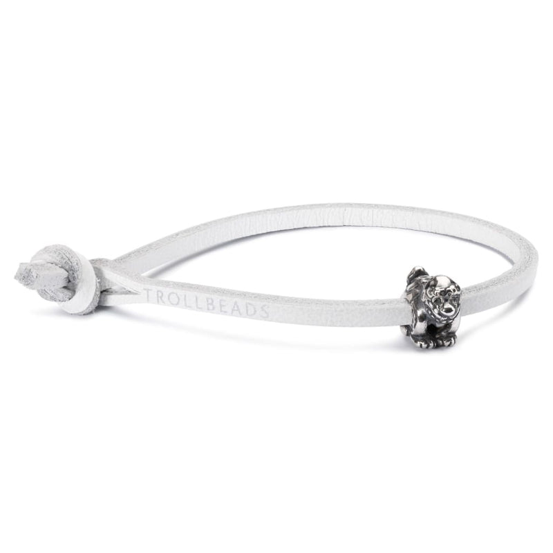 Single Leather Bracelet White - Bracelet