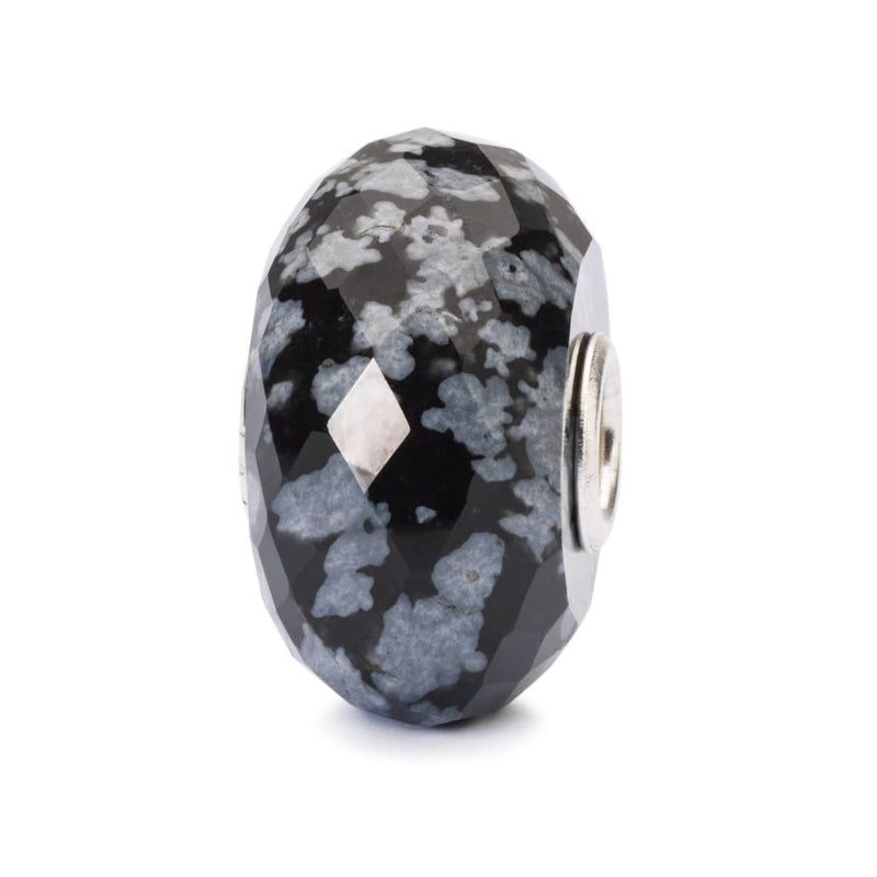 Snowflake Obsidian Facet - Bead/Link