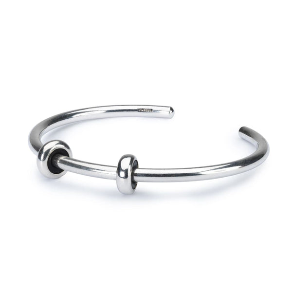 Sterling Silver Bangle with 2 x Silver Spacers - BOM Bangle