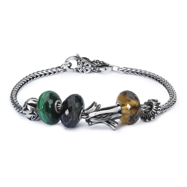 Sterling Silver Bracelet with Gemstones and Sterling Silver