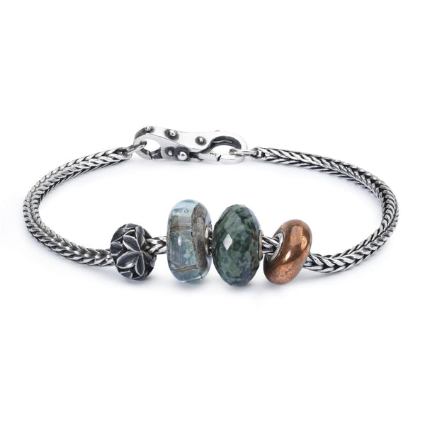 Sterling Silver Bracelet with Gemstones Copper and Sterling