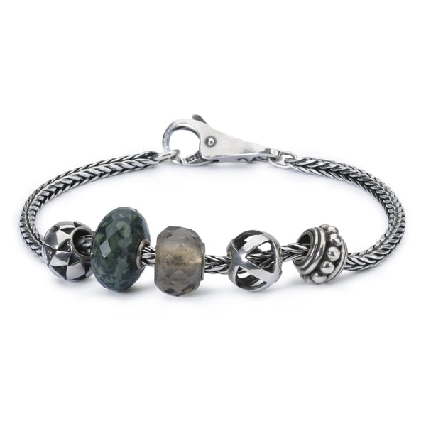 Sterling Silver Bracelet with Gemstones Glass and Sterling
