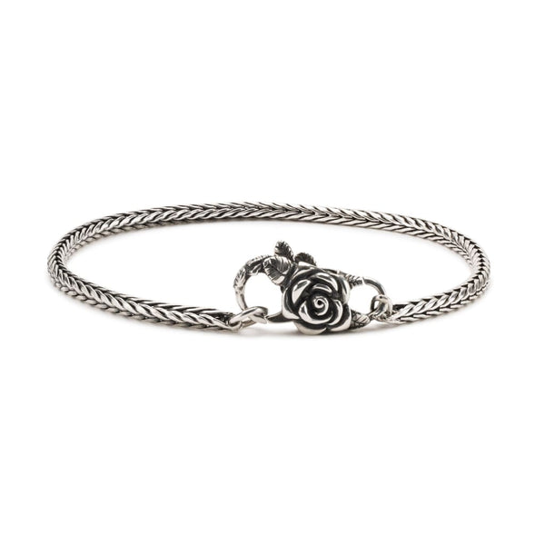 Sterling Silver Bracelet with Rose Lock - BOM Bracelet
