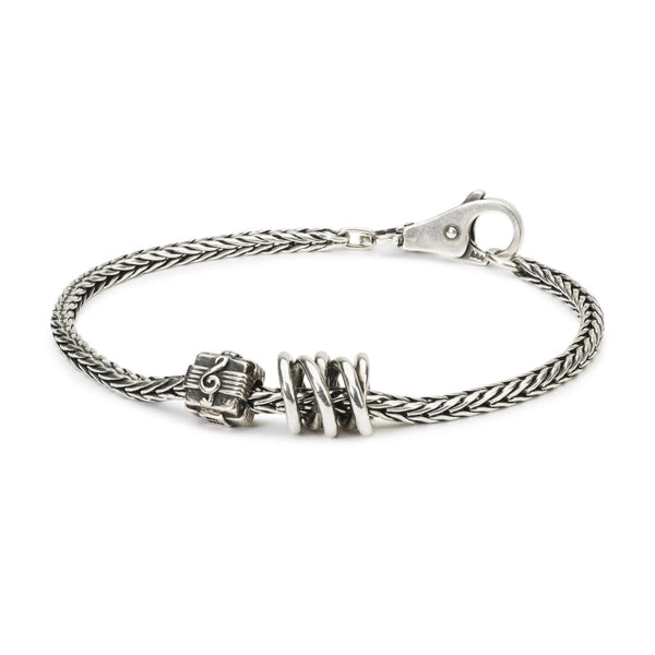 Sterling Silver Bracelet with Silver Beads - BOM Bracelet