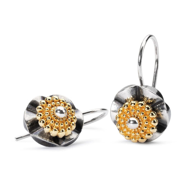 Sun Circle small gold plated - Earring