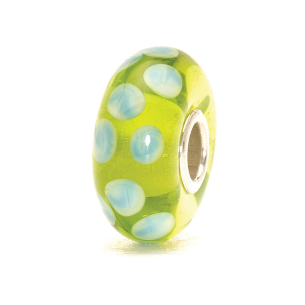 Turquoise Green Dot - Bead/Link