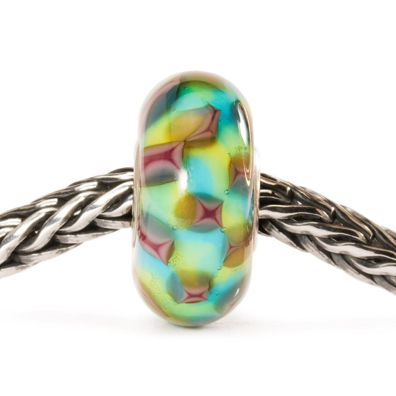 Turquoise & Purple Chess - Bead/Link