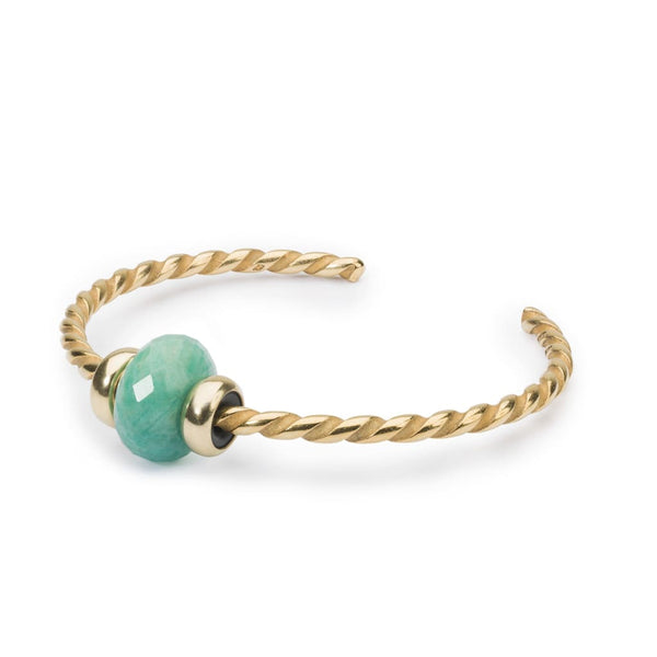 Twisted Gold Bangle with Amazonite - BOM Bangle
