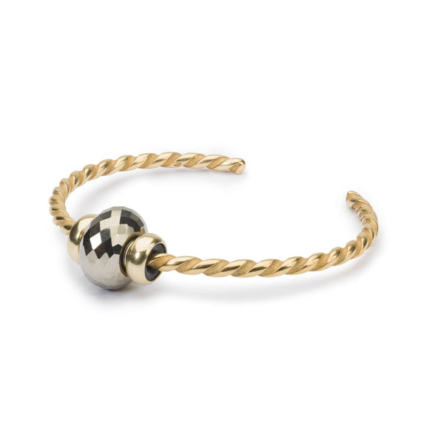 Twisted Gold Bangle with Pyrite - BOM Bangle