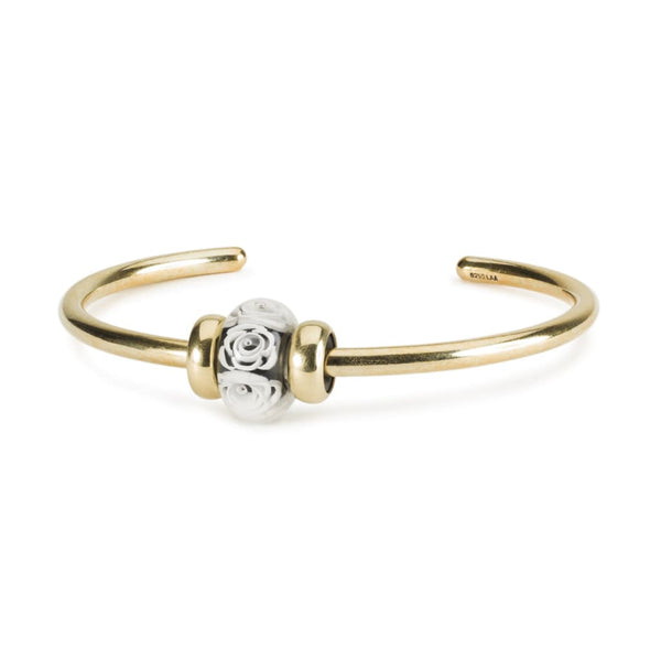 White Roses Gold Bangle - BOM Bangle