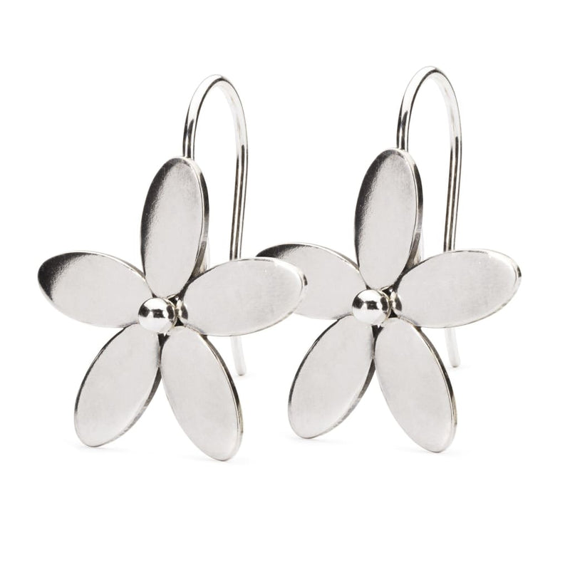 Wood Anemone Earrings with Silver Earring Hooks - BOM