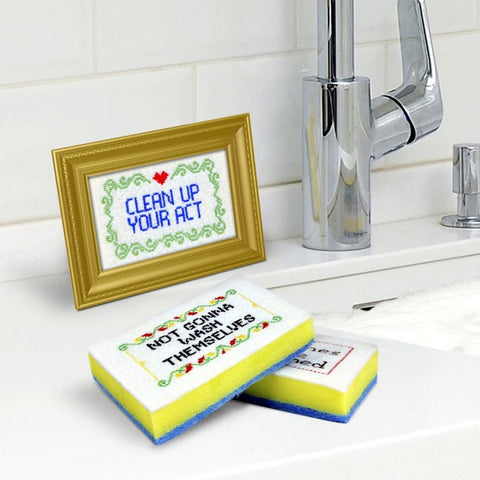 SUBVERSIVE SPONGES SPONGE CADDY SET WITH FRAME