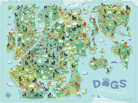 True South Puzzle | Dogs Make The World Go Round