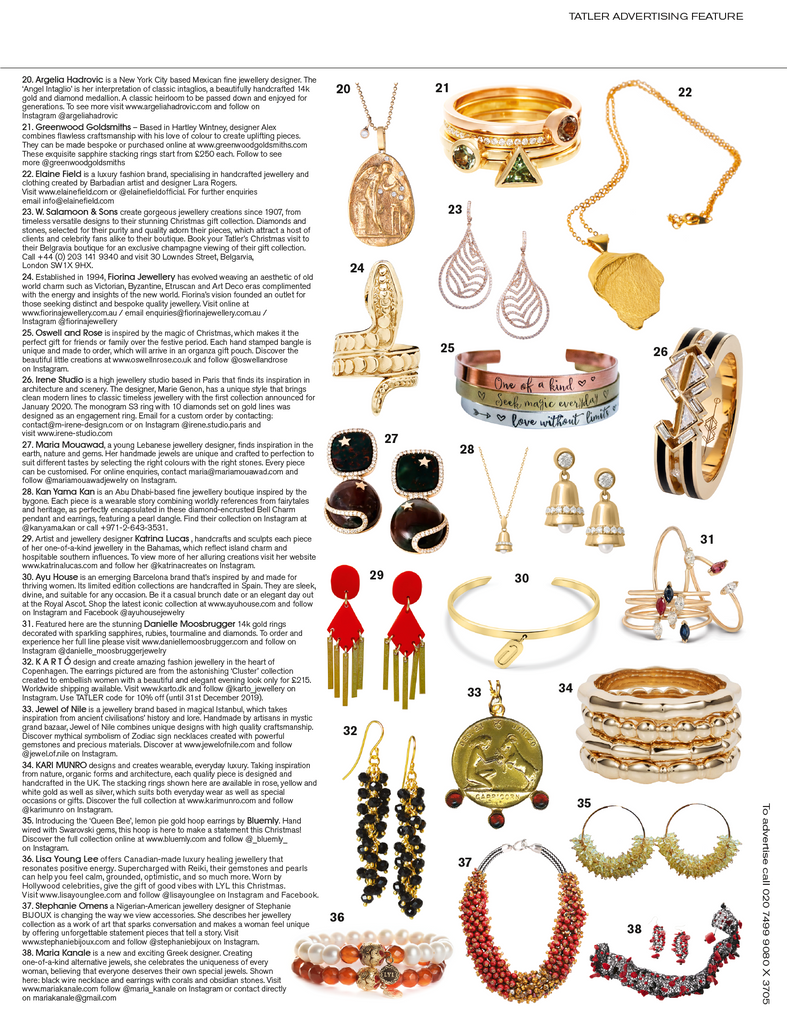 Tatler Feature - 'Beirut' Earrings
