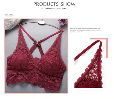 Lace Bralette Backless Brassiere