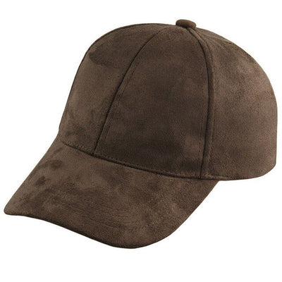 Girls Chic Suede Baseball Cap