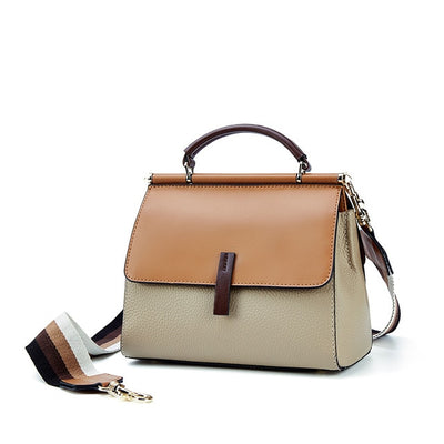 Genuine Patchwork Leather Luxury Handbag
