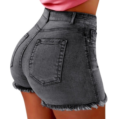 Casual Skinny Jeans Shorts With Pockets
