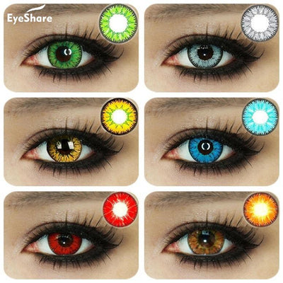Colorful Contact Lenses Halloween Cosplay Lenses