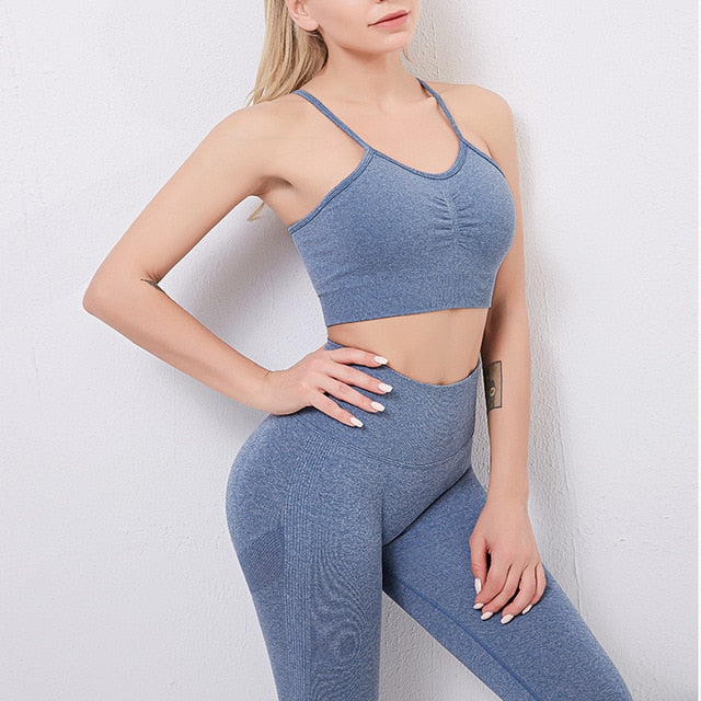 8 colors yoga set 2 piece sportswear set
