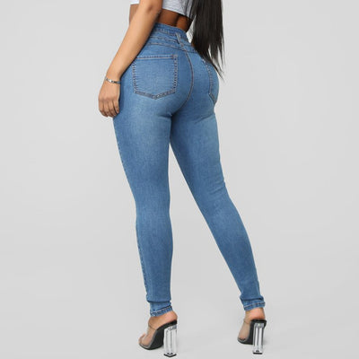 Hot Women Lady Denim Skinny Pants High Waist