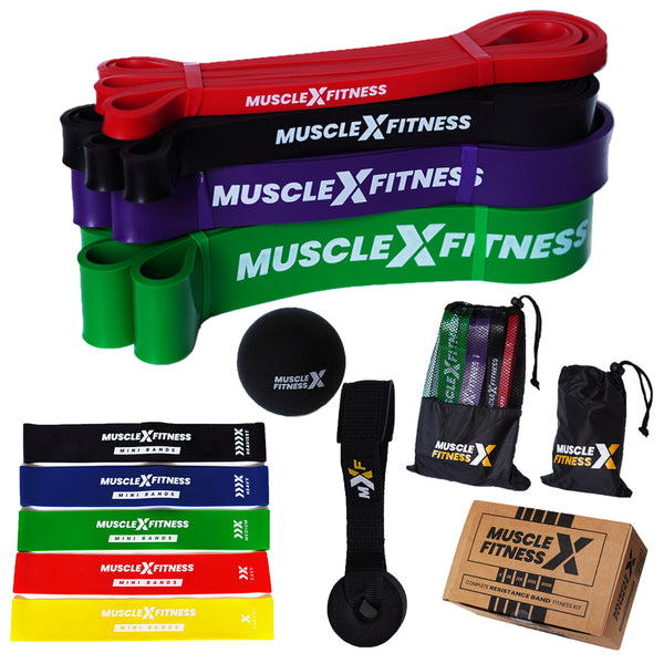 Heavy Duty Resistance Bands Kit - 13 Pieces Complete Set