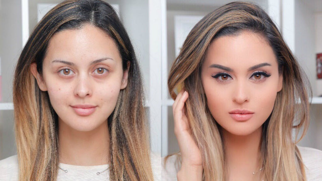 Christen Dominique Makeup - Before And After