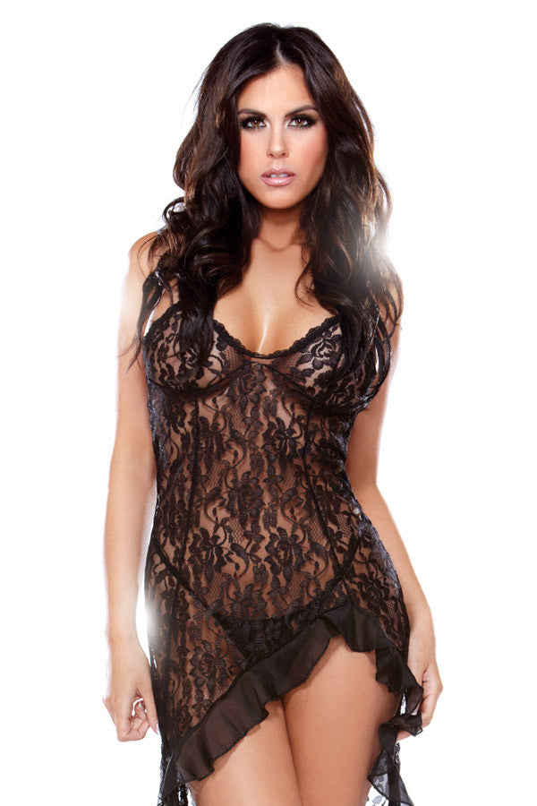 black lace dress lingerie